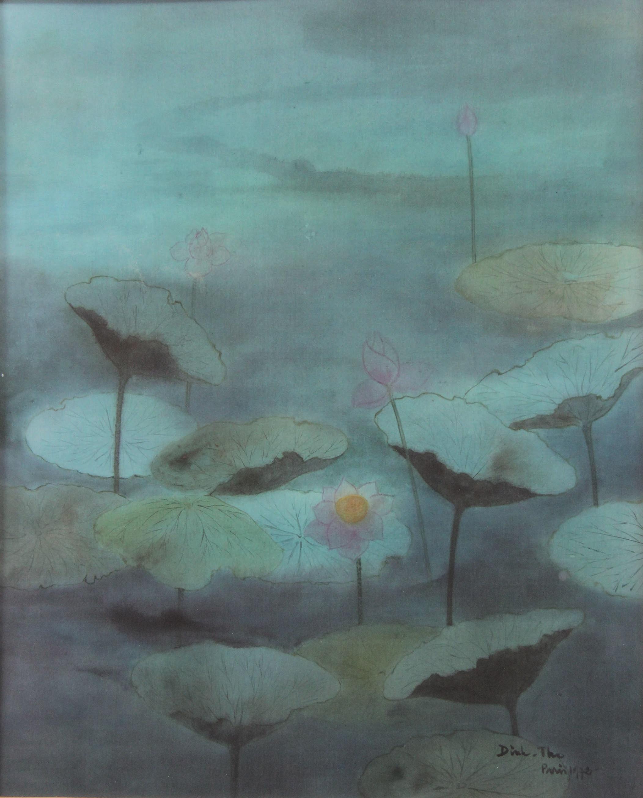 Dinh THO (1931-) Les nymphéas