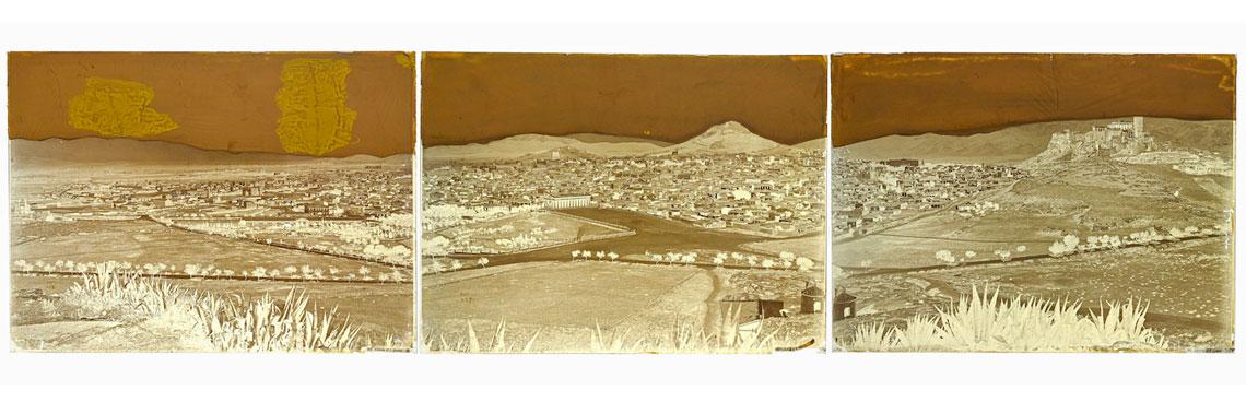 Felix BONFILS. Panorama d'Athènes en trois parties 1867-1875