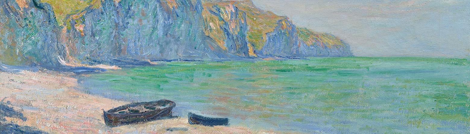 Plage et falaises de Pourville -1882
