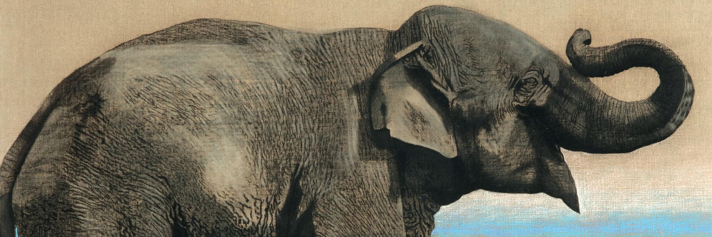 Antonio Segui, Elephants, 1973