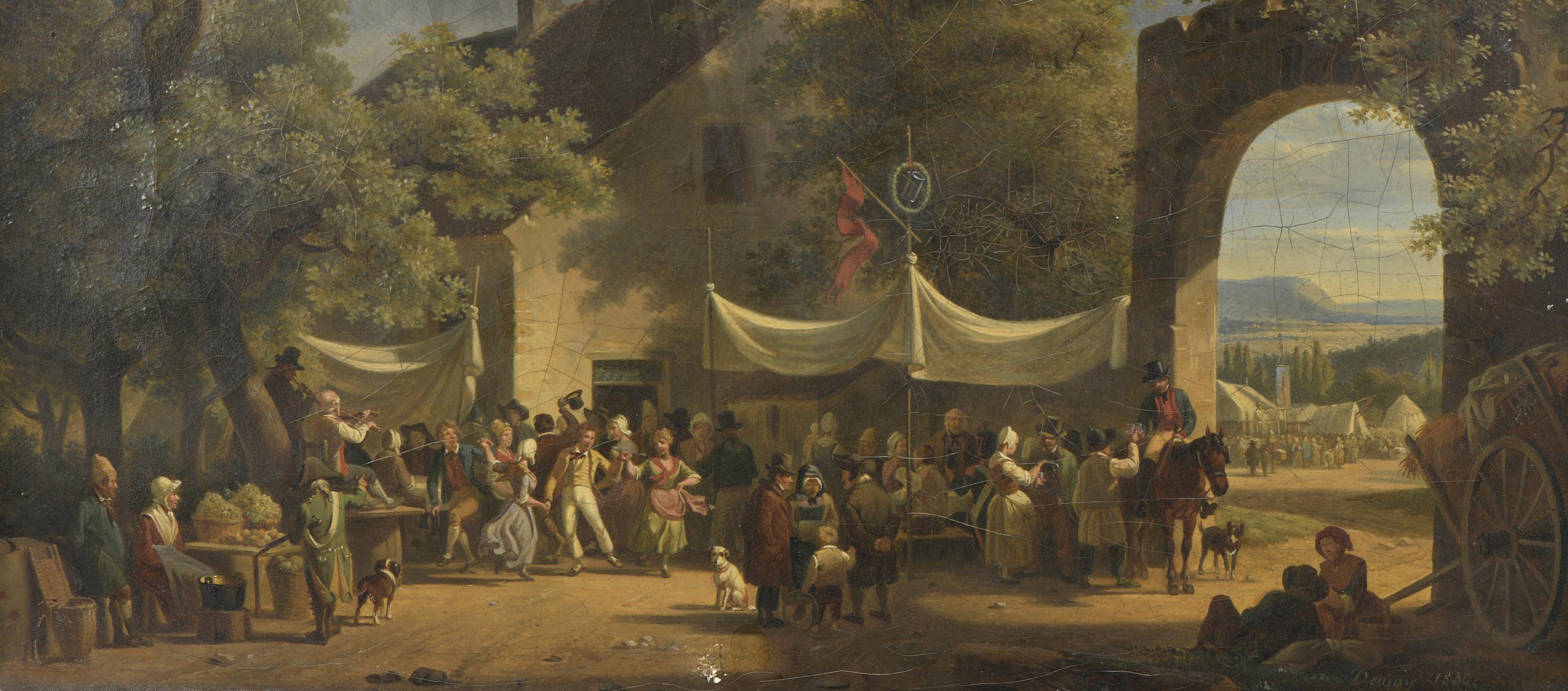 Jean-François DEMAY (1798-1850) La Fête villageoise